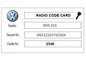 VW radio Code kwijt